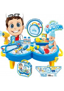 Educational Pretend Play Doctor Playset With Carrying Case