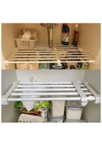 Extendable Rack Adjustable for Cabinet Wardrobe Kitchen (75cm-120cm)