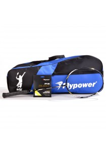Flypower Badminton Racket Pancanaka FOC String FP66JS Blast & Double Zip Bag Bonus