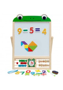 Wooden 2 In 1 Magnetic Drawing Board for Children - Frog