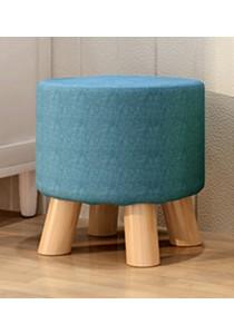 OEM 4 Legged Round Stool Ottoman (Blue)