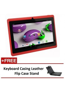 "7"" Ewing Monster A33 Quad Core 1.5gHz 8GB Bluetooth Dual Camera Android 4.4 Tablet + Keyboard Casing Leather Flip Case Stand"