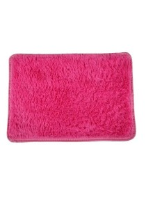 80cm x 120cm: Fluffy Anti Skid Square Shaggy Carpet (Dark Pink)