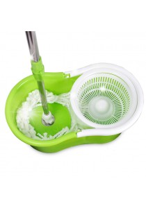 Magic Mop 360° Rotated Microfiber SS Spin Mop - Green (FREE Extra 1 x Cloth + 20 pcs Fresh 'n' Lock Seal Clips)