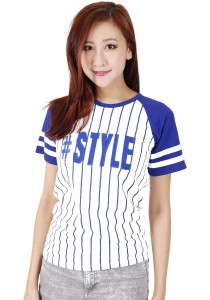 KM T-Shirt Style Short Sleeve Graphic Tee Free Size