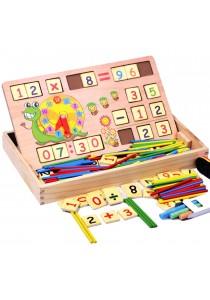 Wooden Multifunctional Montessori Educational Math Learning Box