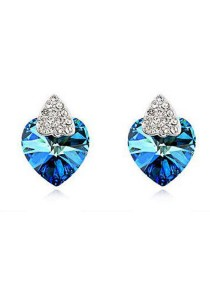 Bermuda Blue Love Earrings