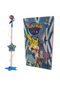 Pokemon Go Microphone Play Set with Height Adjustable Stand and Built-in Speaker
