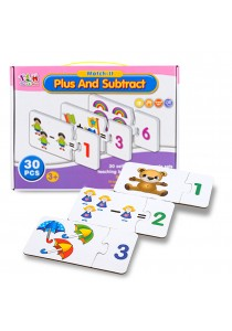 Educational Match-it Jigsaw for Toddlers - Plus & Substract