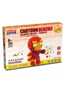 Balody Serial Block Toy, Cartoon Series, Iron Man (411 PCS)