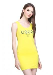 Angel Court Sleeveless Scoop Neck Mini Dress AC38-5314