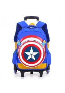 6 Wheels Kids Trolley Elementary School Waterproof Backpack