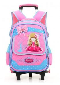 6 Wheels Kids Trolley Elementary School Cute Girl Waterproof Backpack