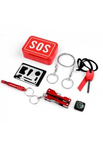 6-In-1 SOS Emergency Box Outdoor Survival Kits
