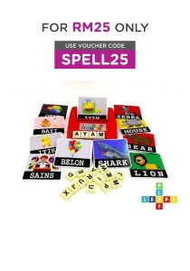 PlayNLearn English & Malay 2 in 1 Children Spelling Fun Game Combo
