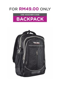Trek Gear Outdoor Backpack with Laptop Compartment - TBP607 Black