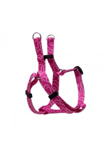 Dogit Style Adjustable Step In Dog Harness - Bones - Pink - Small