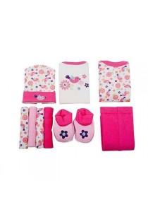 OWEN Baby 9 -Piece Gift Set - Girls (Pink)