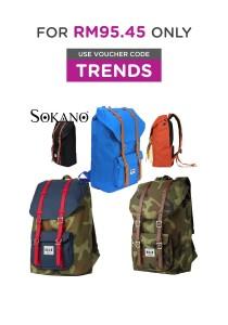 Sokano Trendz 8848 Series European Style Outdoor Travel Laptop Backpack