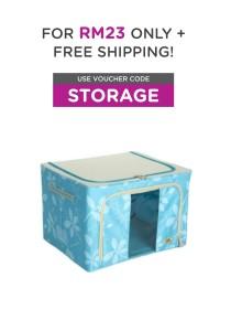 Foldable Space-Saving Storage Box (66L)