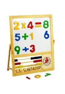 Double Sided Magnetic Wooden Writing Board With Numbers Set