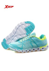XTEP Women's Running Shoes Reactive Coil - 985218115296 - Blue Green