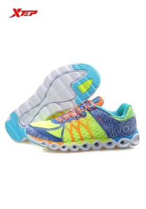 XTEP Women's Running Shoes Reactive Coil - 985218115296 - Green Orange