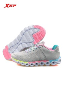 XTEP Women's Running Shoes Reactive Coil - 985218115296 - Grey Green