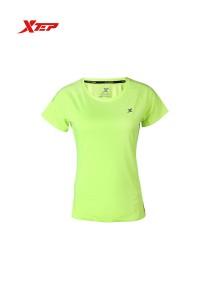 XTEP Women's Short Sleeve Sport Running Tee - 985228011204 - Neon Green