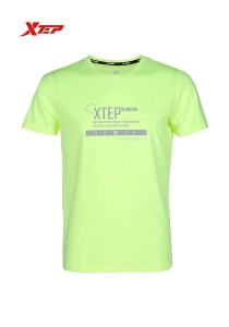 XTEP Men's Short Sleeve Running Tee - 985229011171 - Neon Green