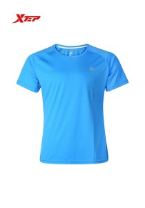 XTEP Men's Short Sleeve Running Tee - 985229011179 - Moon Blue
