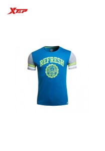 XTEP Men's Short Sleeve Casual Tee Refresh - 985229011216 - Blue