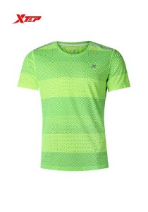 XTEP Men's Short Sleeve Running Tee - 985229011258 - Neon Green