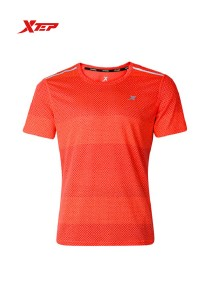 XTEP Men's Short Sleeve Running Tee - 985229011258 - Red