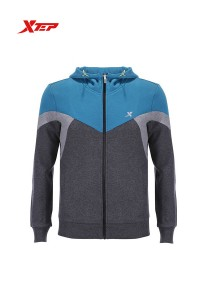 XTEP Men's Casual Sport Running Jacket - 986329340100 - Grey