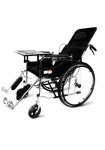 Premium Multi-function High Back Reclining Folding Medical Wheelchair - HC-08602