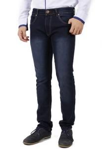 KM Men Dark Blue Skinny Jeans - Dark Blue