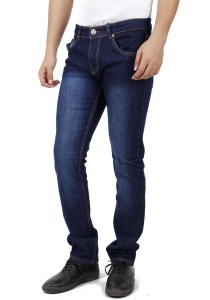 KM Men Dark Blue Slim Fit Jeans - Dark Blue