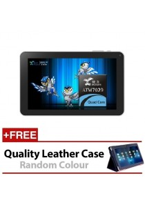 "9"" Ewing 8GB Quad Core HDMI Android 4.4 Bluetooth Wifi Tablet With Dual Camera + Leather Case"