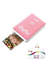 Pringo Pocket Photo Printer(Pink) + Pringo 30-Pack Paper Sheets & 3-Dye Ribbon Cartridges