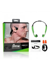 KSCAT Bone Conduction Bluetooth V4.1 Earphones IPX6 Waterproof Wireless Titanium Open-ear Nice5 (Green)