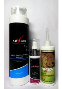 Anvison Super Saver 10 (Multi in 1 Conditioning Shampoo) - Multi in 1 Conditioning Shampoo 400ml, Sweet Fine Fragrance 40ml and Tea Tree Oil Ear Cleanser 116ml