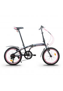 """Asogo A1620619-BC 20"""" Folding Bike with 6 Speed (Rose)"""