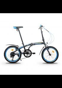 "Asogo A1620619-BC 20"" Folding Bike with 6 Speed (Light Blue)"