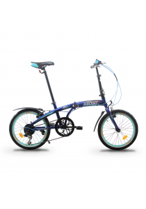 """Asogo A1620619-BC 20"""" Folding Bike with 6 Speed (Turquoise)"""
