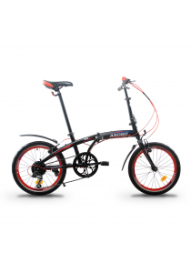 """Asogo A1620619-BC 20"""" Folding Bike with 6 Speed (Red)"""