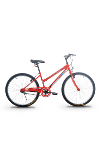 """Asogo A1626571-BC 26"""" MTB One Piece Crank with 1 Speed (Red)"""