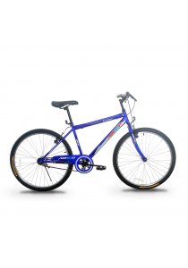 """Asogo A1626572-BC 26"""" MTB One Piece Crank with 1 Speed (Matte Blue)"""