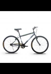 "Asogo A1626574-BC 26"" Mountain Bike MTB with 1 Speed (Matte Grey)"
