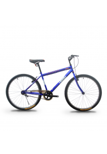 """Asogo A1626574-BC 26"""" Mountain Bike MTB with 1 Speed (Matte Blue)"""
